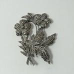 #189 Vintage Silver Marcasite Brooch